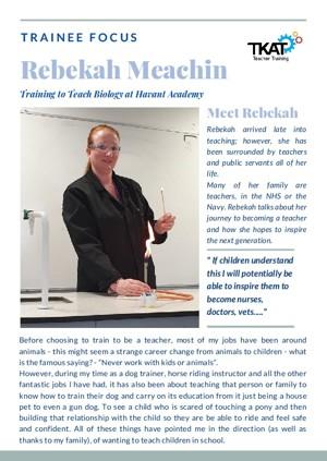 Trainee Focus   Rebekah Meachin (1)