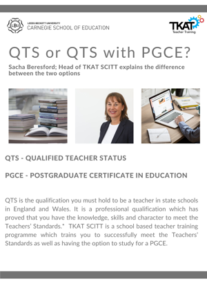 QTS or QTS with PGCE