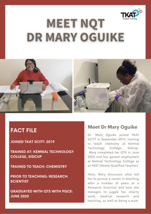 Meet NQT Mary Oguike