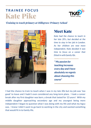 Trainee Focus   Kate Pike